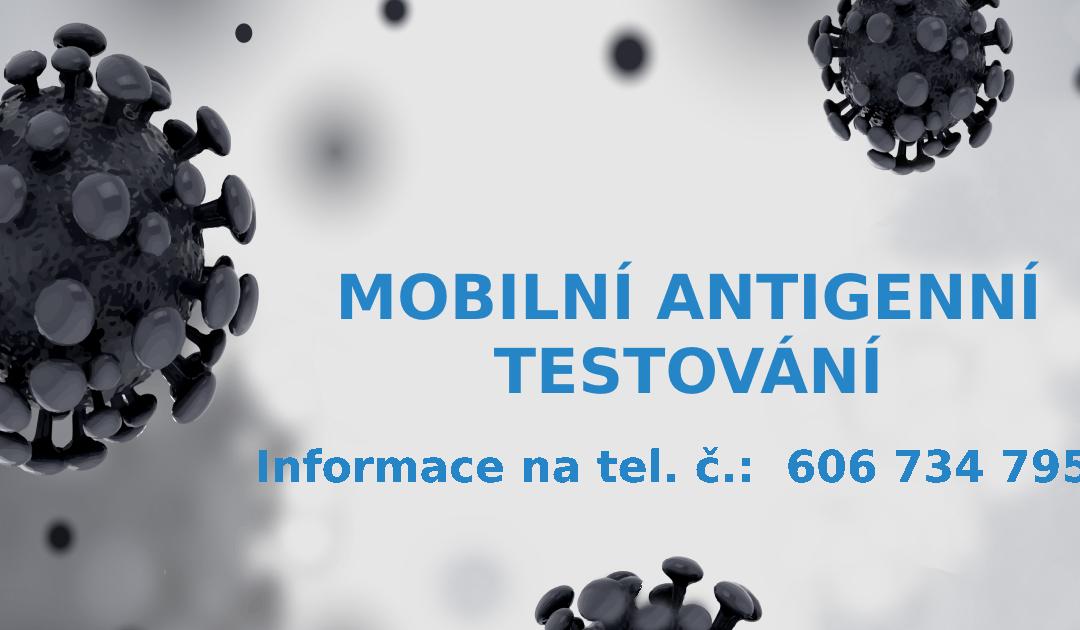 Mobilní antigenní testování – COVID-19